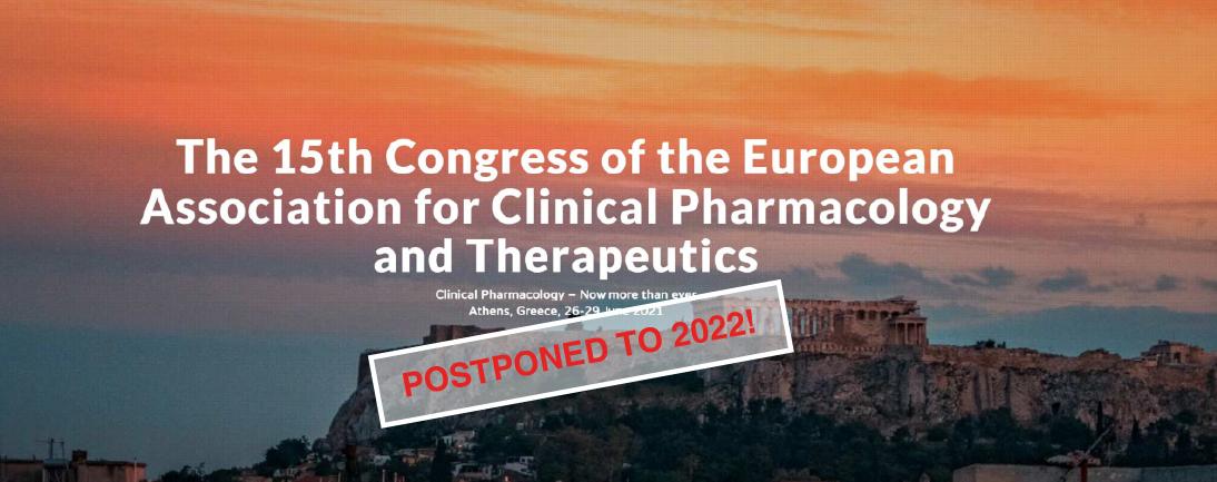 15th Eacpt Congress postponed